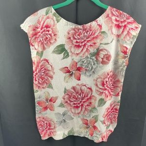 Luisa Ricci made in Italy floral sleeveless top